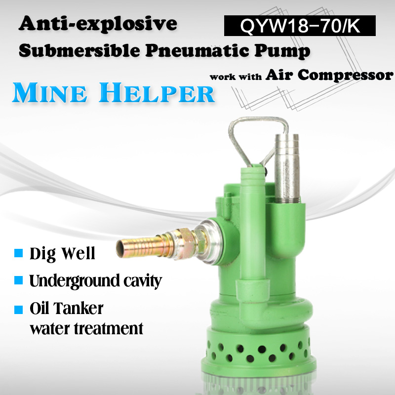 submersible pneumatic mineral slurry pump air power mining mud pump prices by air conpressor