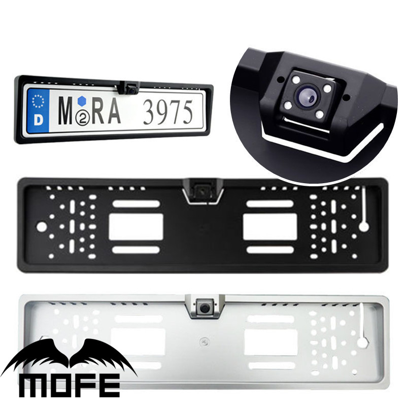 Plastic European Car Number license Plate Frame Holder With Camera