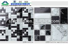 CN hotsale glass and stone mixed mosaic tile