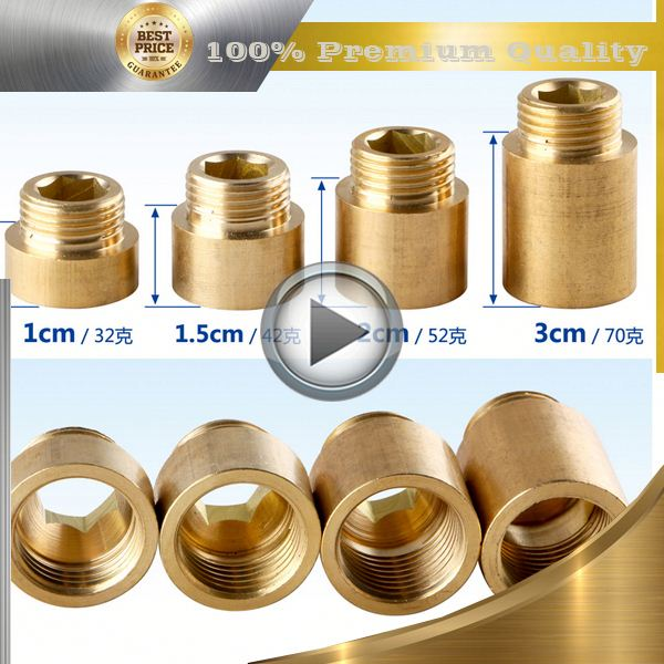 brass brass pipe extension nipple