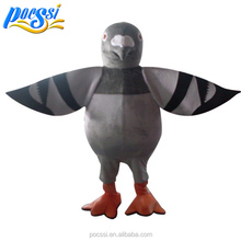 Custom Size Gray Postman Pigeon Mascot Costume for Big Persons