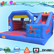 EN14960 commercial inflatable bouncy castle cheap prices for sale, used bouncy castle with slide combo