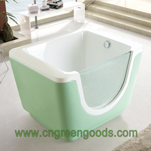 Baby Children Size Bathroom Small Deep Free Standing Side Glass Soaking Whirlpool Hydro Massage Spa Hot Bath Shower Tub