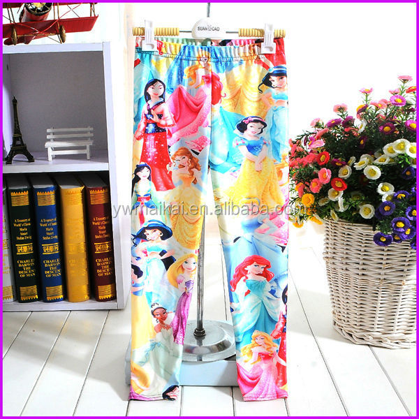 wholesale new designed fashion lovely princess kids cheap leggings