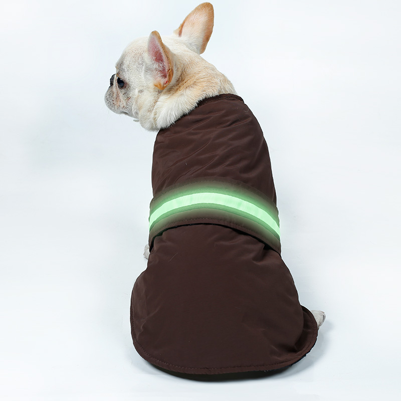 Custom lED Pet Vest Jacket Waterproof Winter Warm Clothes <strong>Dog</strong>