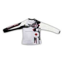 White color motocross racing jersey motorcycle t-shirt