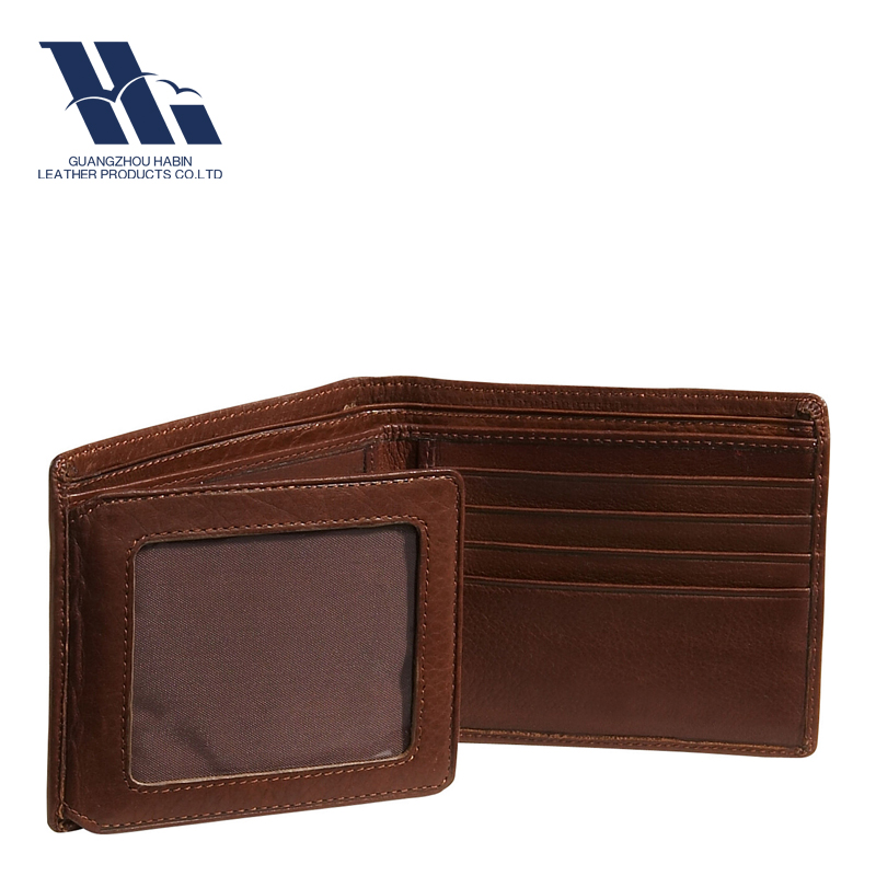 Customized Famous Genuine Leather men's wallet