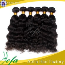 water wave hair human hair bun low price natural wave human hair