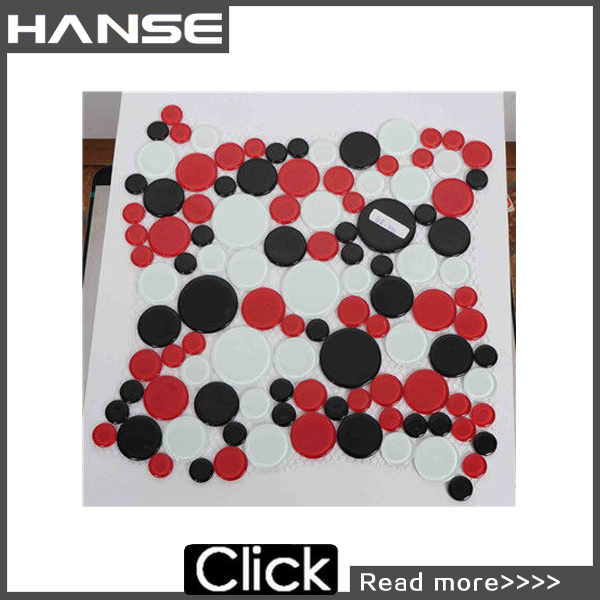 HSM125 arabic mosaic/porcelain mosaic/red and black glass mosaic tile