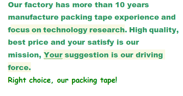 Best performance strong adhesive bopp packaging adhesive tapes to specifications