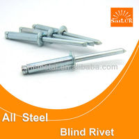 Open type flat head Medium steel blind rivets Ms blind rivets