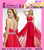 Hot Sexy Sleeveless Backless Long Red Evening Dress Wholesale Elegant And Beautiful Design Red Evening Dress