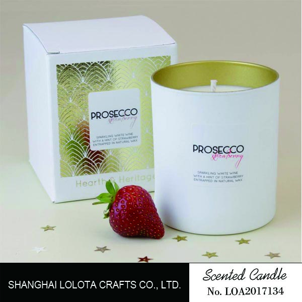 scented candle in tin holder with nice packaging
