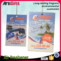 Factory direct sale print car air freshener cards and paper air freshener
