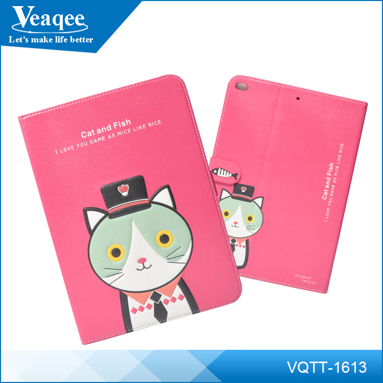 Veaqee mobile phone pu leather case for ipad 4,tablet pc case for ipad 2 3 4