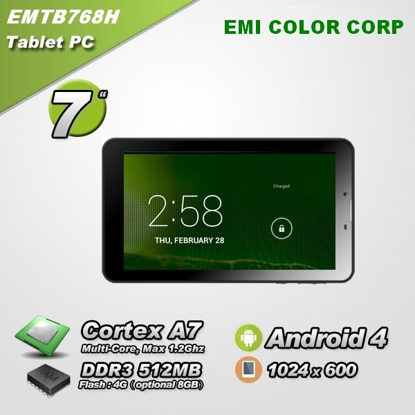 7 inch 3G Dual Core low cost android Tablet PC with phone connectivity