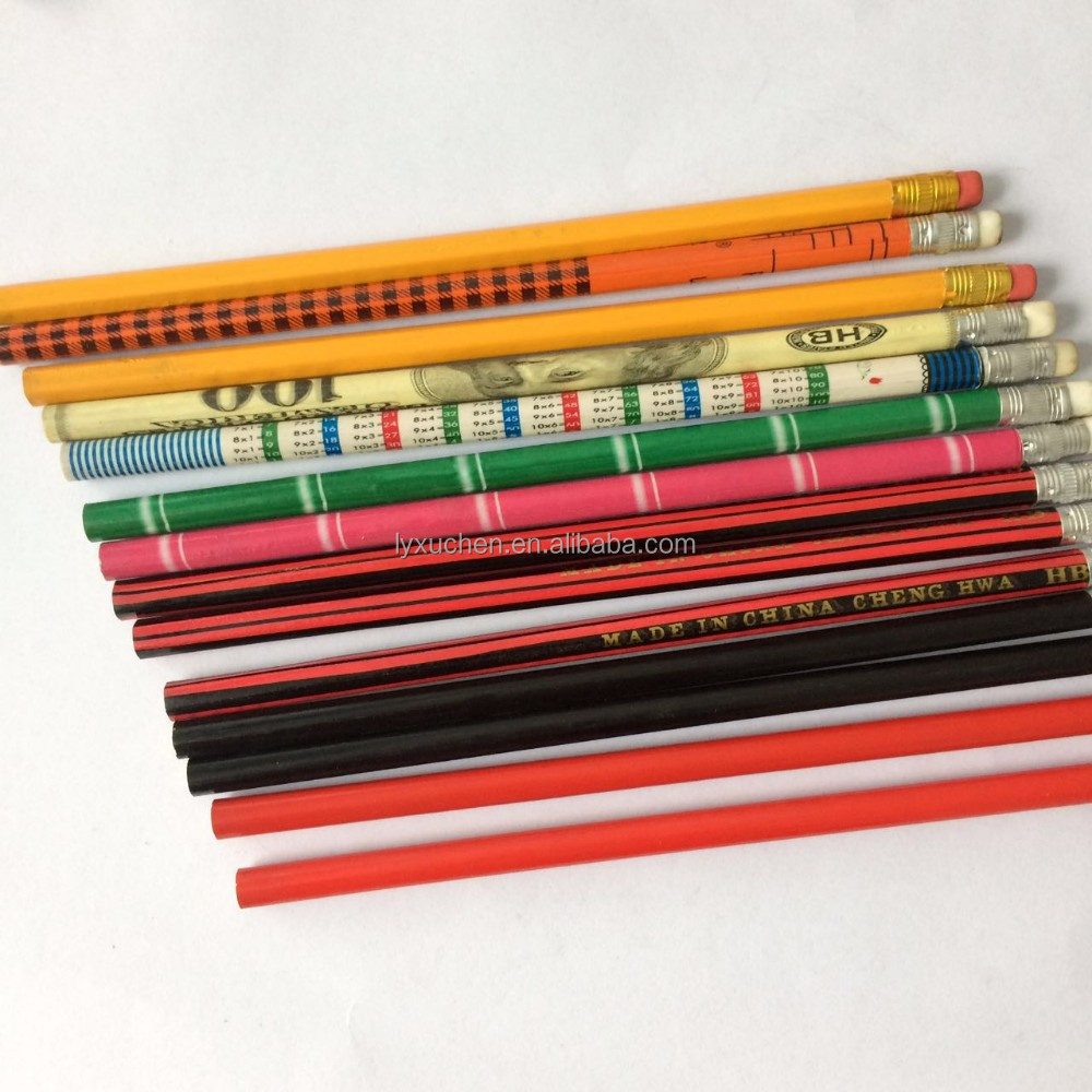 OEM logo printing standard yellow hb pencil