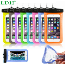 PVC Universal Mobile Phone Waterproof Bag Pouch Cover Case For iPhone 6 4.7 5.5 For Samsung Galaxy Note 4 3 2 S6 S6 Edge S5 S4