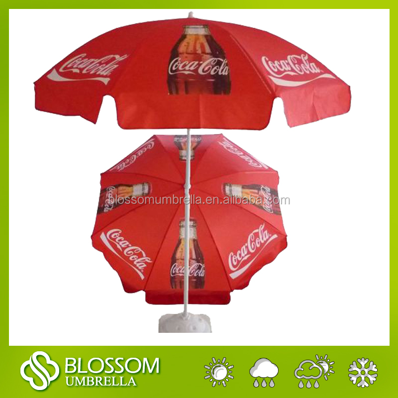 coca red cola outdoor beach umbrella ,beach umbrella factory