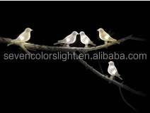 SCL0045 white led color outdoor hot sale solar bird light
