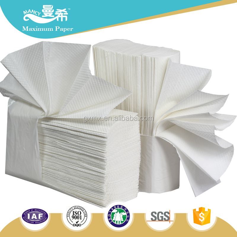 white virgin soft multifold paper hand towel/paper hand towel