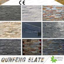 CE Passed Split Surface Antacid Nature Decoration Slate Panel Prefab Stone Wall