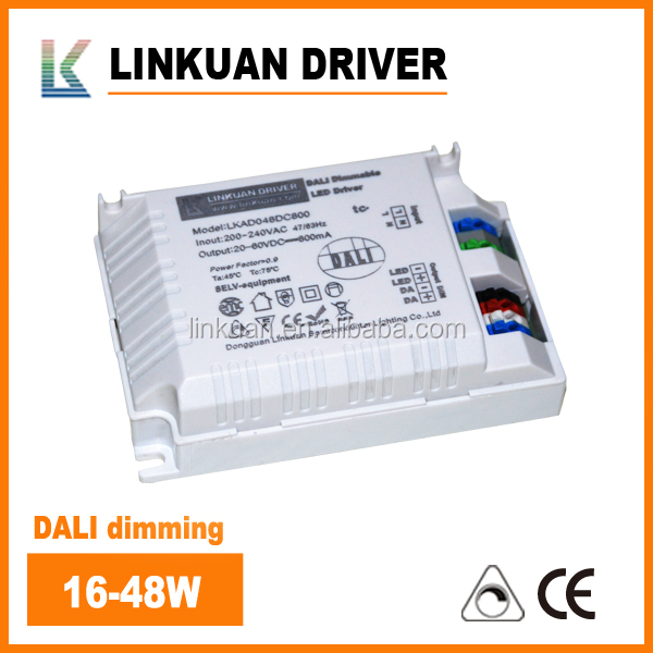 100-240VAC Free Flicker dimming 55W 42W 18W 15W 32W 30W dali led driver dimmable Constant Current 38-64VDC