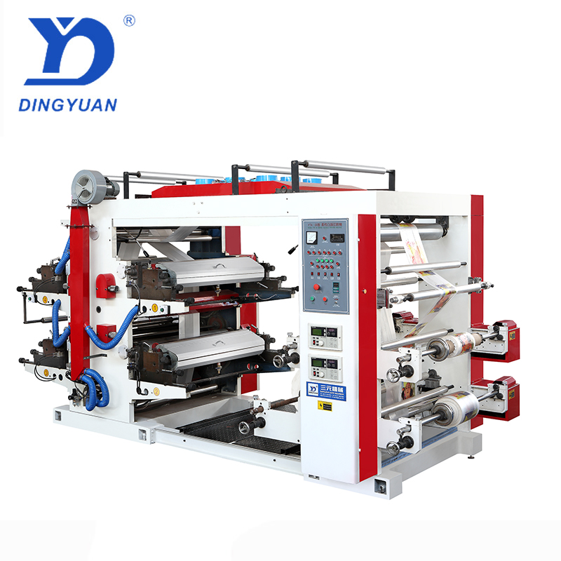 High speed auto disposable plastic plates making flexo printing machine sanyuan