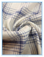 2016 black and white stripes rayon plaid tweed fabric for shirt