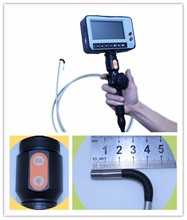 2ways articulating flexible portable handheld endoscpe inspection tube pipe camera