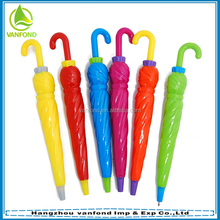 Plastic umbrella shaped ball pen for promotion
