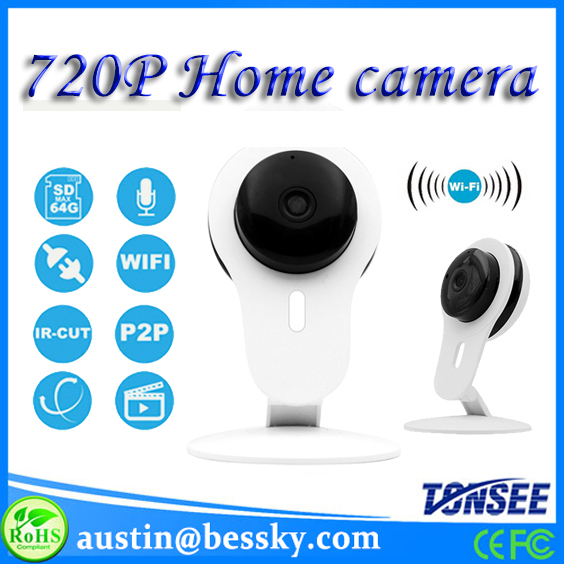 2017 Newest 720P HD IP Camera P2P Wirless Wifi Home Security CCTV Camera with Wireless Alarm Support