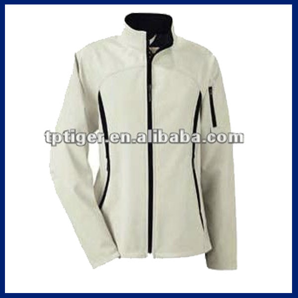 Leather Jacket - 4-way elastic softshell bonded with fleece
