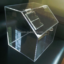 top grade promotion bespoke large high clear acrylic material plexiglass storage box for candy wholesale