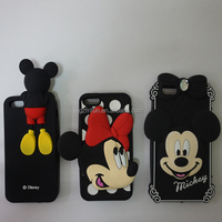 3D Mickey cute silicon phone case for iphone 4s 5s 6s