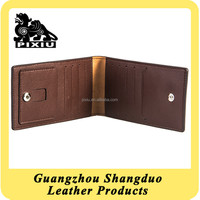 Manufacture Name Card Case Leather Foldable Clip Card Holder