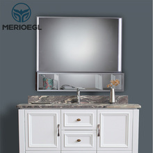 Cheap modern bathroom shaving mirror makeup cabinet with sink
