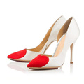 Popular with heart-shaped decoration pointed toe high heel ladies pump shoes