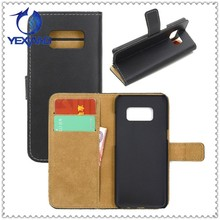 new arrival leather phone case for samsung s8 protective flip stand wallet case cover