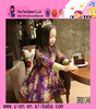 2015 Flower Printed Girl Dress Girls Party Dresses Baby Girl Birthday Dresses