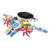 2017 wholesale 3d airplane building toy wooden puzzles for toddlers new design educational wooden puzzles for toddlers W03B071