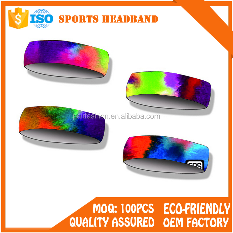 OEM custom cheap elastic headbands Custom printed yoga Sport headband wholesale