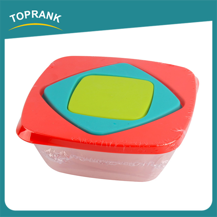 Various shapes 3pcs vegetables fruits fresh container plastic crisper box for food