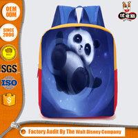 Cheap Price Oem&Odm Lovely Girls lightweight soft back pack bag with aniaml panda printing