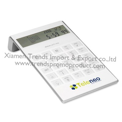 battery operated voice key 8-digit display Full Function world time alarm clock calendar desktop calculator with timer