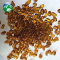irregular glass beads-AMBER for swimming pool