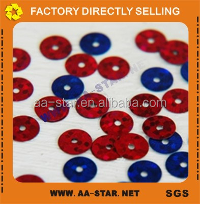 PET Sequins spangle round metallic sequins for embroidery patches