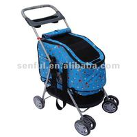 Luxury Oxford Dog Stroller Pet Trolley Dog Carrier
