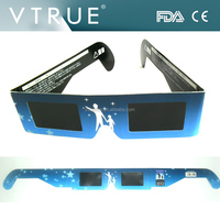 Paper safety solar Eclipse glasses with custom logo printing ,10 pcs a bundle with UPC number package for amazon salers