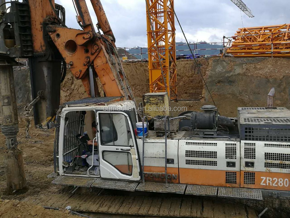 used good quality Zoomlion rotary drilling rig machine zr220/zr250/zr280/zr360 for hot sale